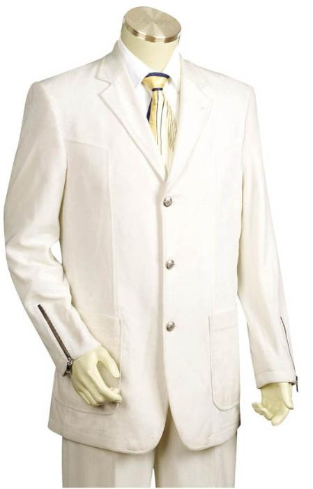 SKU#SD2213 Mens 3 Buttons Suit Style Comes in White