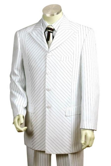 SKU#GH1542 Men's 3 Buttons Suit White color