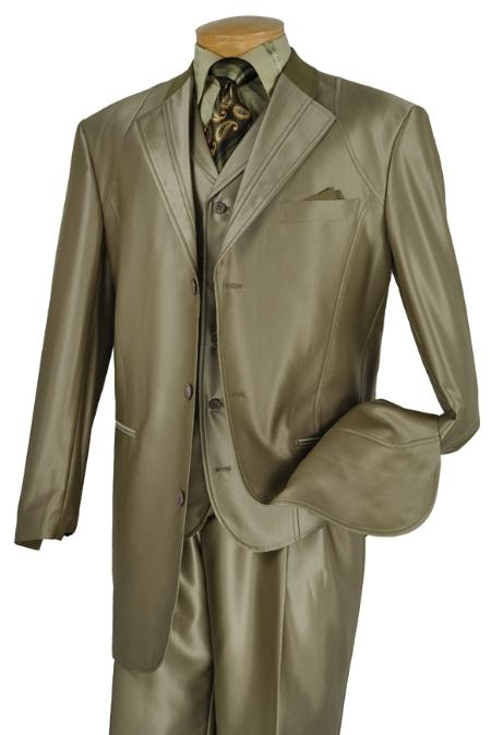 SKU#FN9322 Mens 3 Piece Fashion Suit Cedar $175