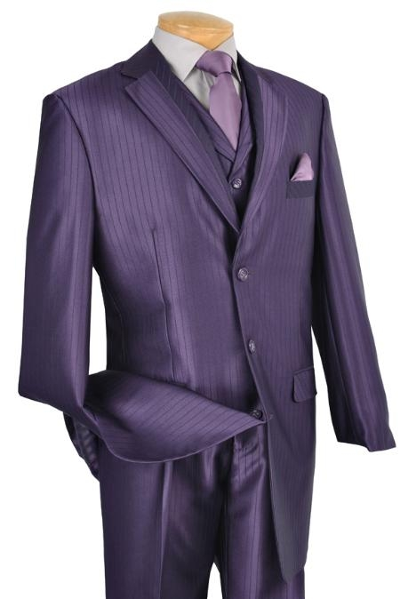 SKU#RM6721 Mens 3 Piece High Fashion Suit Purple $175