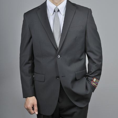 SKU#HJ9889 Mens Black 2-button Suit $149