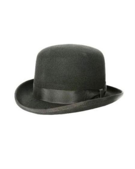 SKU#BC8322 Mens Black bowler derby style ~ Bowler Hat $49