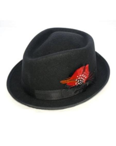 SKU#BL9222 Mens Black Detroit Hat