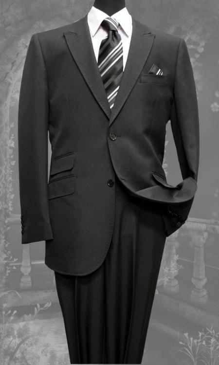 SKU#HY5419 Mens Black Slim Fit Super 150