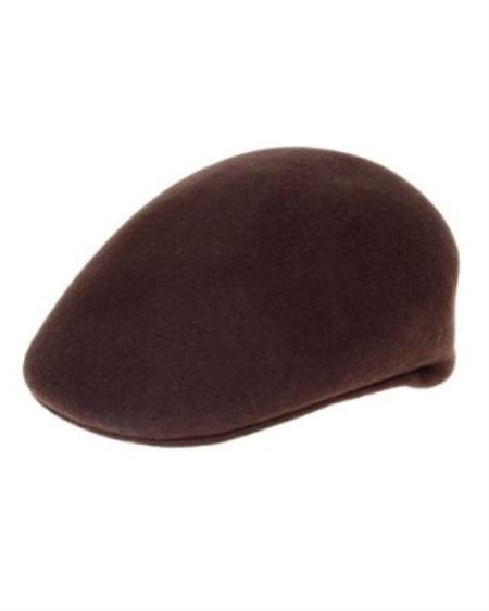 SKU#WK8202 Mens Brown English Cap $49