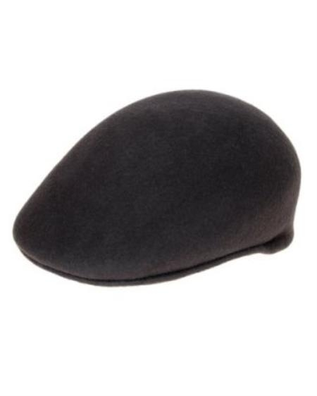 SKU#IL8222 Mens Charcoal English Cap Hat $49