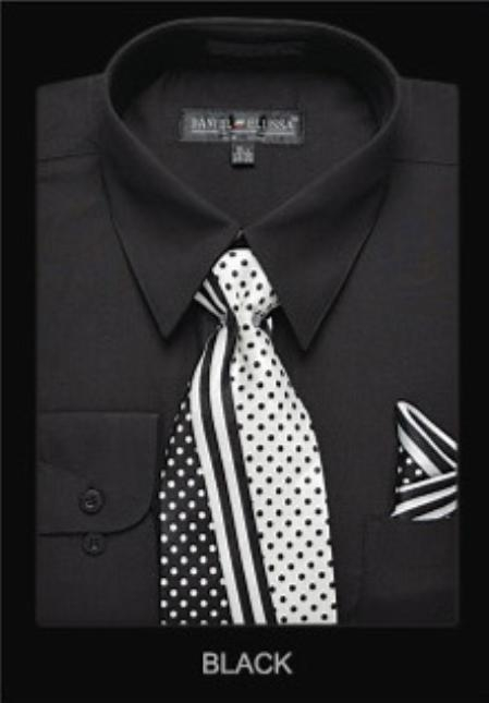 SKU#BC9891 Mens Classic Dress Shirt Black $39