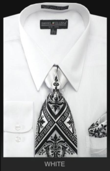 SKU#WH0283 Mens Classic Dress Shirt White $39