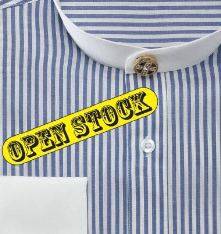 SKU#GF721 Mens Fancy Banded Collar French Cuff Shirt $49