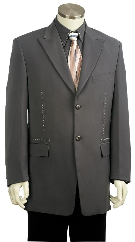 SKU#GY8105 Mens Fashion Zoot Suit Grey $225