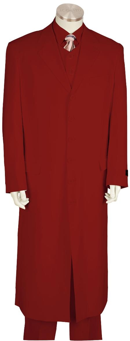 SKU#LD8171 Mens Fashion Zoot Suit Red
