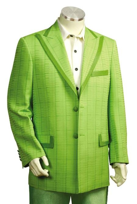 SKU#QL8178 Mens Fashion Zoot Suits Lime $225