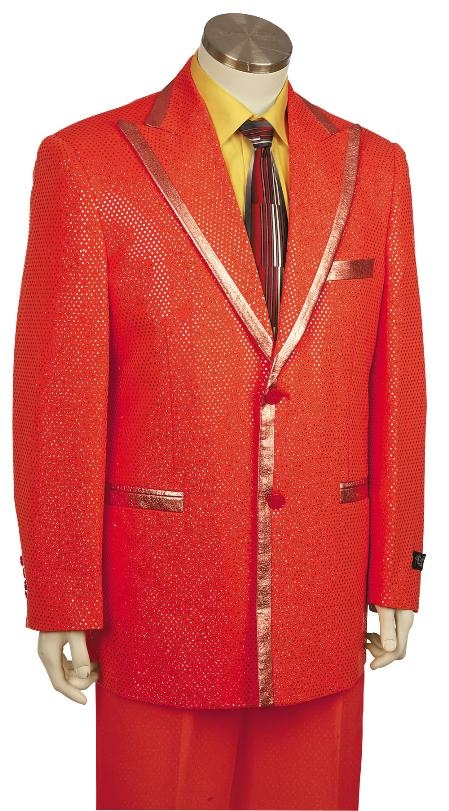 SKU#BY8169 Mens Fashionable Zoot Suit Red $189