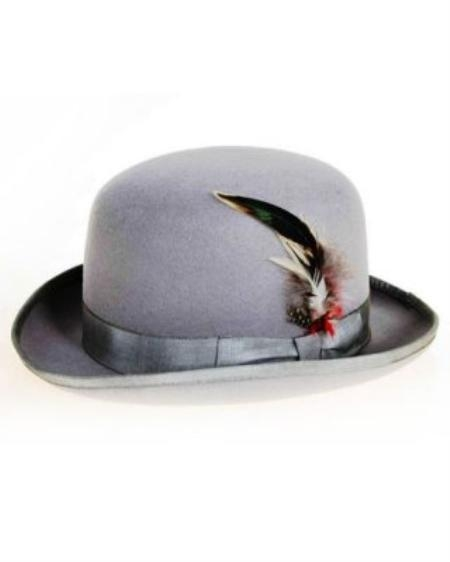 SKU#MG0234 Mens Gray Derby Hat $49