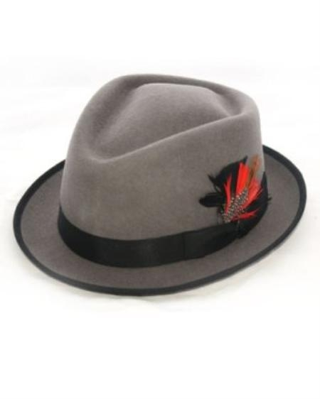 SKU#ON8022 Mens Gray Detroit Hat