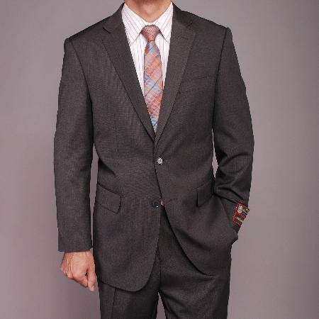 SKU#GH8522 Mens Gray Teakweave 2-button Suit