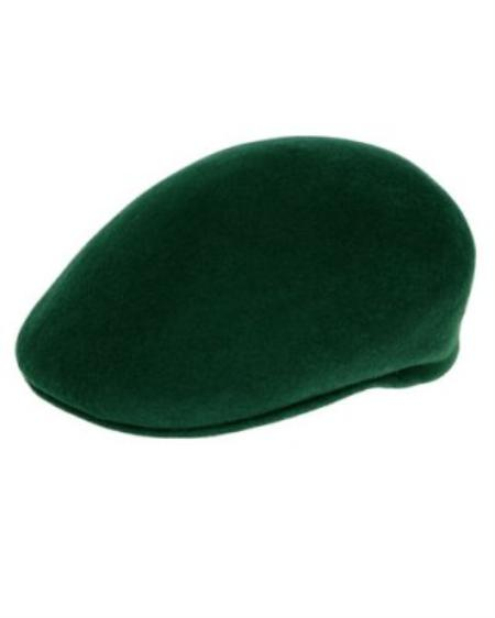 SKU#HG822 Mens Hunter Green English Cap Hat $49