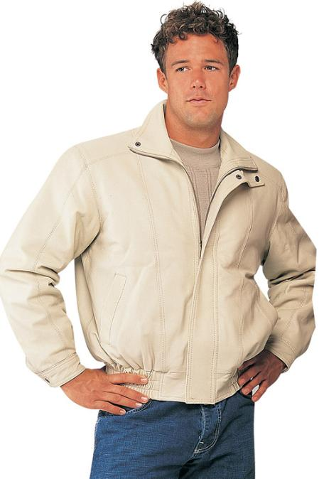 SKU#NB8952 Mens Leather Jacket Bone $159