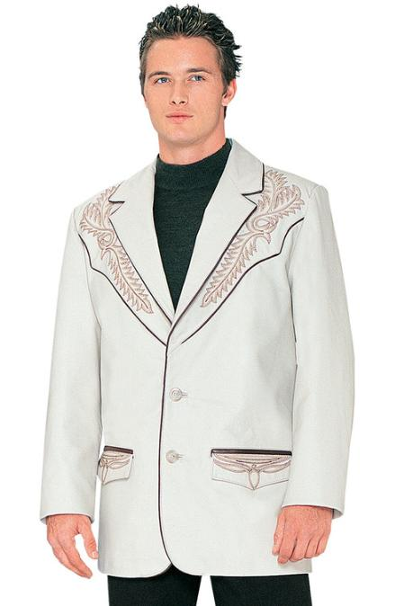 SKU#JU9985 Mens Leather Jacket Bone $159