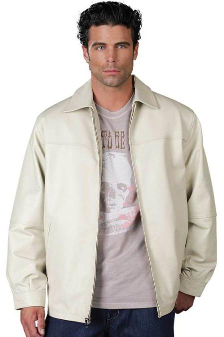 SKU#HC1400 Mens Leather Jacket Bone $199