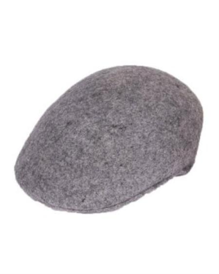 SKU#LG8222 Mens Light Grey English Cap Hat $49