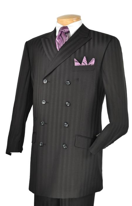 SKU#AM1111 Mens Luxurious 3 Piece Fashion Suit Black $175