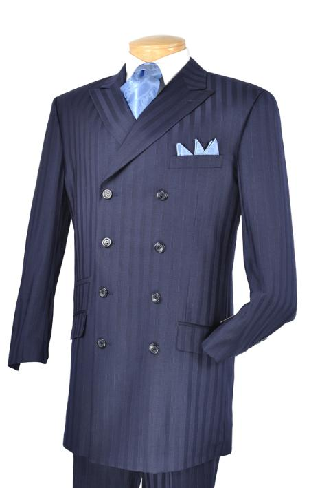 SKU#QB8302 Mens Luxurious 3 Piece Fashion Suit Blue $175
