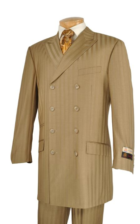 SKU#GP8292 Mens Luxurious 3 Piece Fashion Suit Camel $175