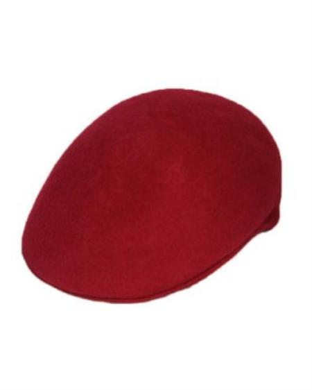SKU#MR9322 Mens Maroon English Cap Hat $29