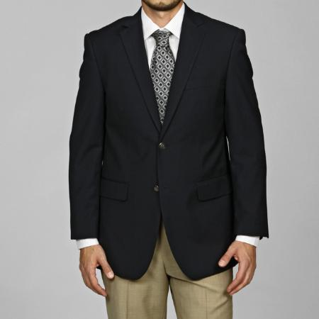 SKU#GD9791 Men's Navy Blue 2-button Blazer