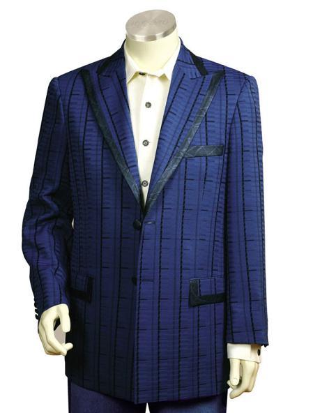 SKU#QT8178 Mens Navy Pinstripe Gangester Zoot Suit Navy $225