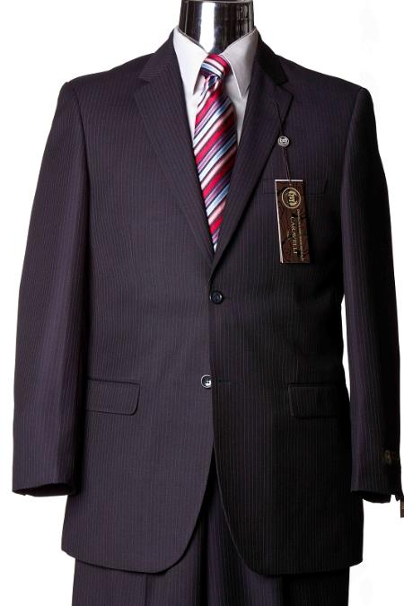 SKU#GW5620 Suit Separate Mens Navy Pinstripe Italian Designer Suit Navy