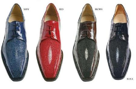 SKU#Belvedere Mens Ottone Oxford stingray and eel leathers handcrafted Ottone oxfords $254