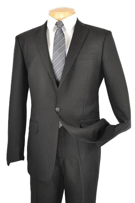 SKU#RM5782 Mens Single Breasted 1 Button Slim Suit Black $149