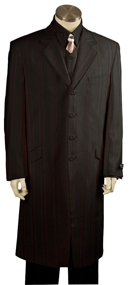 SKU#VT8173 Mens Solid Black Exclusive Fashion Zoot Suit Black $175