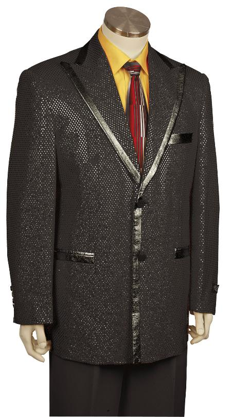 SKU#GW8169 Mens Stylish Zoot Suit Black $225