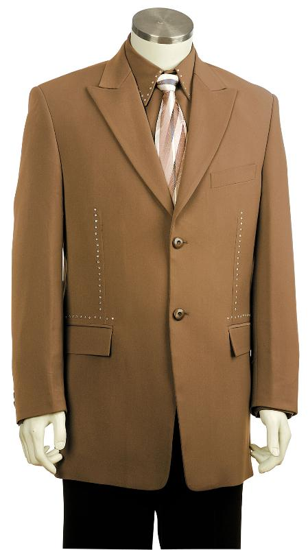 SKU#KQ8105 Mens Stylish Zoot Suit Chestnut $225