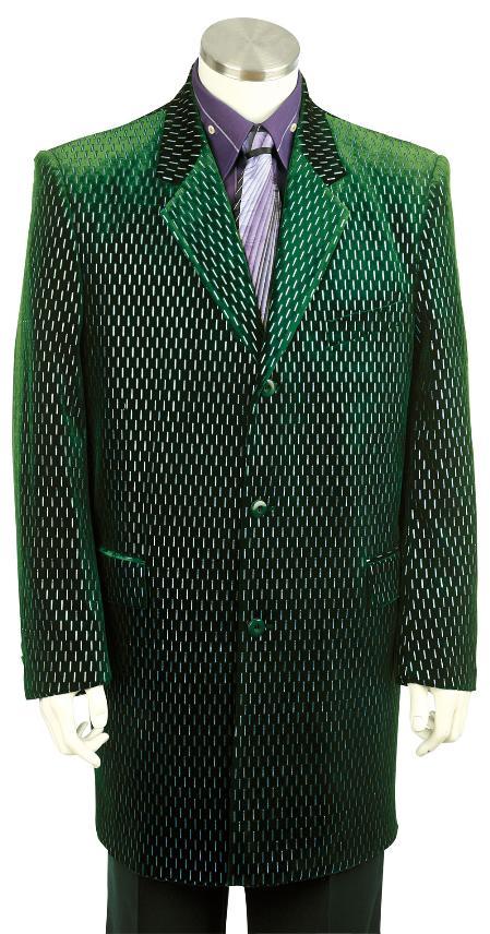 SKU#CW8110 Mens Stylish Zoot Suit Olive $199