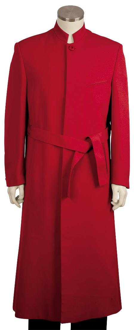 SKU#FQ8101 Mens Stylish Zoot Suit Red45 Long Jacket EXTRA LONG JACKET Maxi Very Long  $225