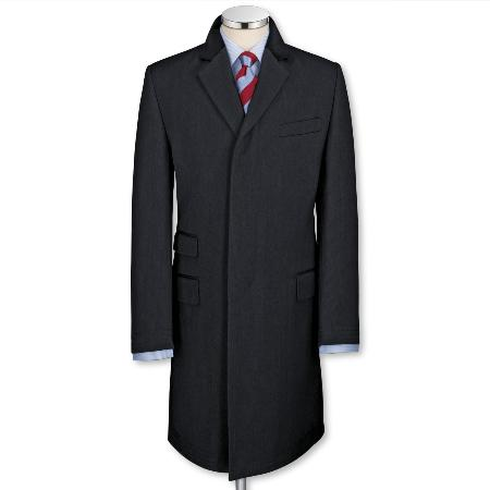 SKU#RH9312 Navy Covert Coat $299
