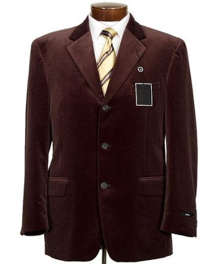 SKU#MUZ833GA New mens Two button style jacket velour blazer/Jacket ~ Sport Coat SUEDE Casual and Comfortable $1