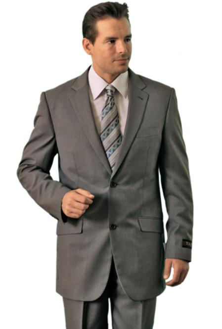 SKU#GE8949 Poly/Rayon Mens Grey Classic affordable suit online sale