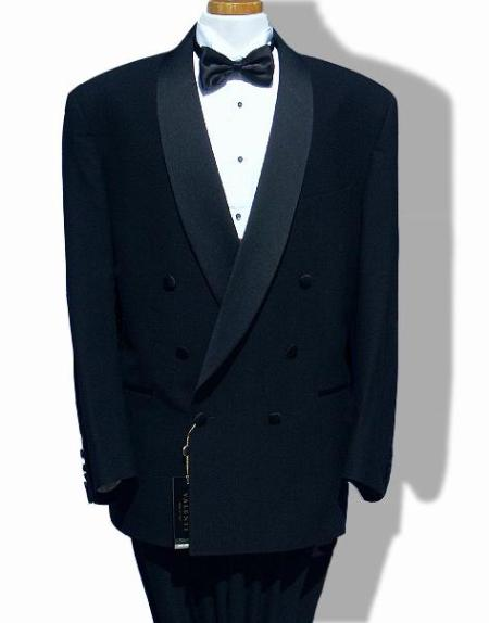 VALENTI~$1800 Made in ITALY one button Double Breasted shawl collar tuxedo by Leonardo Valenti
