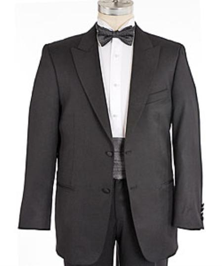 2 button Peak Lapel