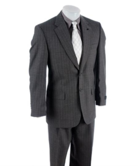 Charcoal Gray Stripe 2 button