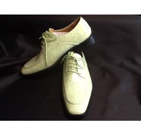 mens mint green lime dress skin look dress shoe