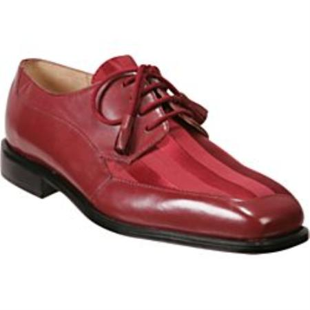 SKU#DF8121 Red - A Unique Twist on a Traditional Dress Shoe Lace-Up Tassels $99