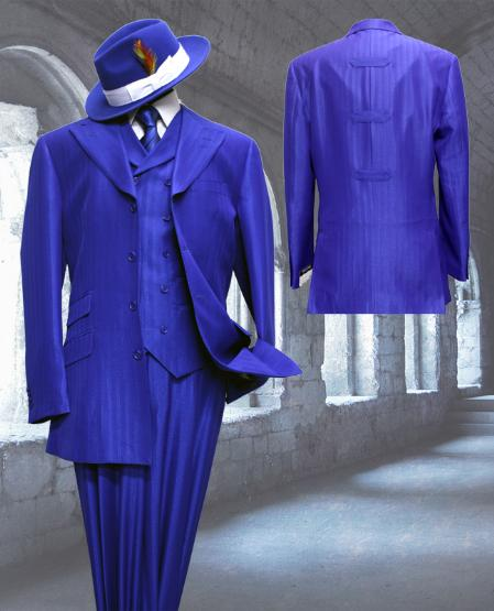 SKU#WQ8022 Royal Tone on Tone 3pc Fashion Zoot Suit $250