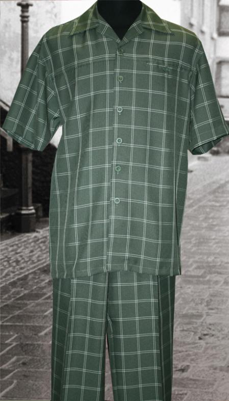 SKU#VF8392 Sage 2 Pc Shirt and Pants Set $99