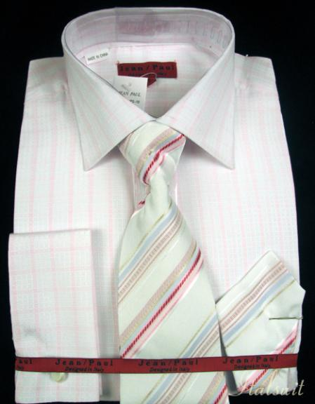 SKU#KL2921 Shirt Tie and Hankie Set - Pink $65